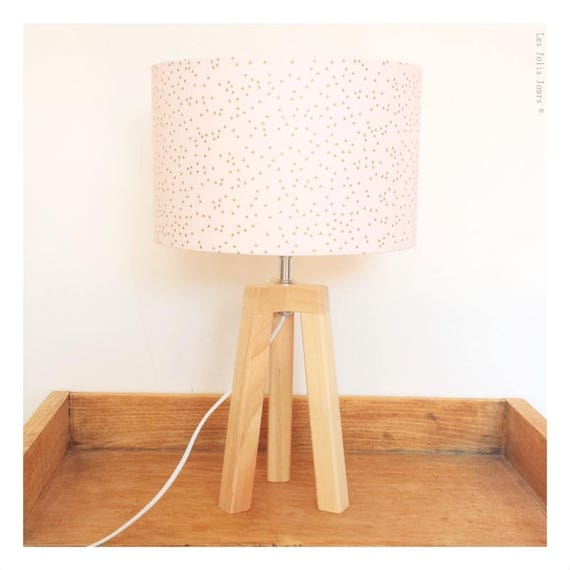 ROSE GOLD tripod lamp