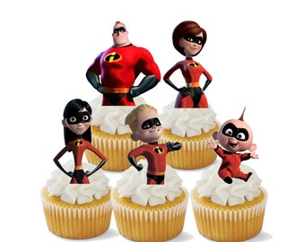The Incredibles Cupcake Toppers