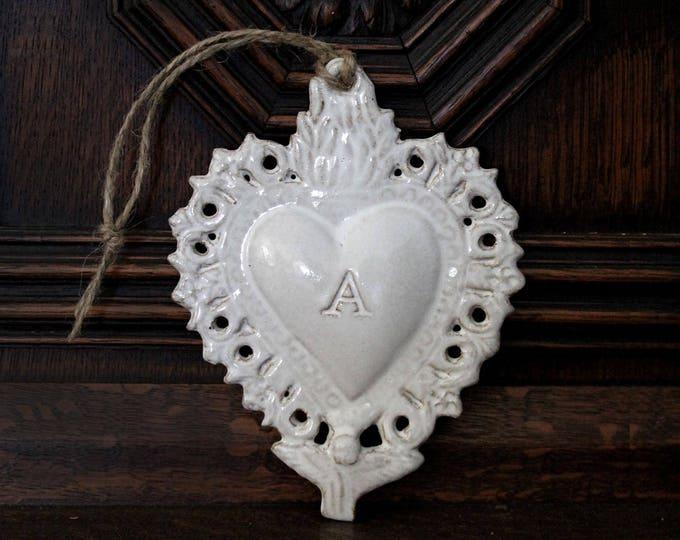 Monogrammed Ex Voto Sacred Heart