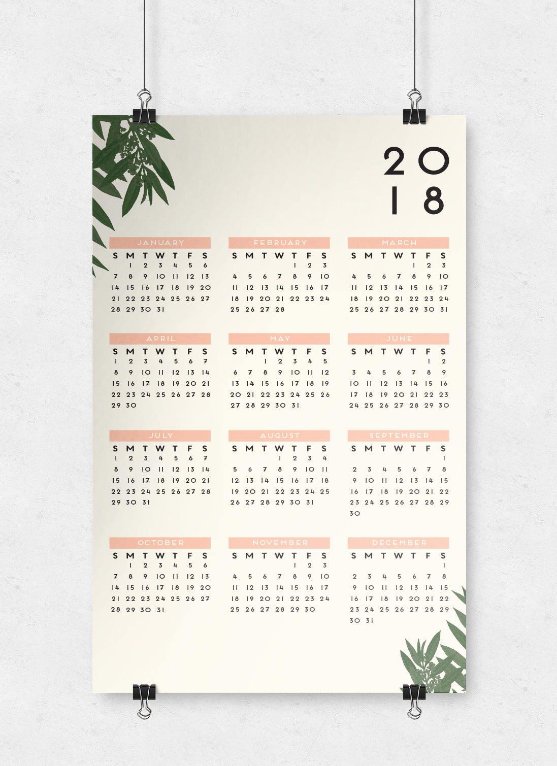 11x17 2018 calendar