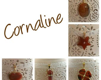 Lucky Carnelian Pendant Necklace