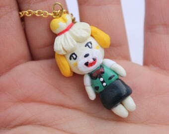 Animal Crossing Isabelle Necklace Polymer Clay Custom Character