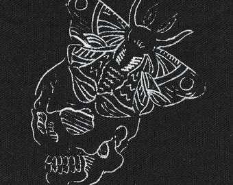 Skull and moth patch