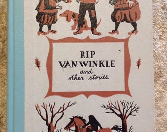 Hardcover childrens book, rip van winkle and other classic stories