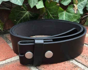 Size small (32) or Medium (34 inch) black genuine leather belt strap snap belt black belt belt for buckles mens belt  women's