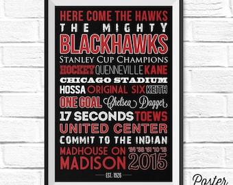 Chicago Blackhawks Art - Canvas or Poster