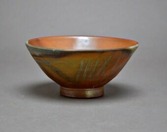 Wood fired Bizen Chawan Bowl. Matsumoto Atsuji. Three #3