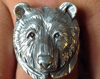 Grizzly Bear Mens Ring