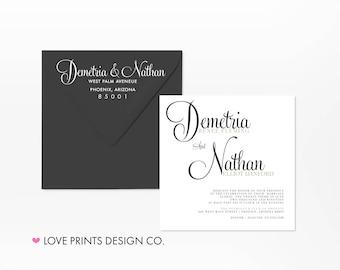 Wedding Invitation Template Download, Wedding Invitation Suite, Square Wedding Invitations, Wedding Invitation Printable