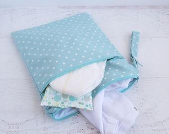 Cloth Diaper Wet Bag | Wet Dry Bag Diaper | Wet Bag for Cloth Pads | Swimsuit Bag | Cloth Pad Wet Bag | Gift for New Mom | Star Baby Shower