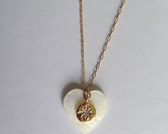 DROP necklace - Gold plated chain 14kt - star pendant