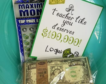 You Are Worth 100K Teacher Gift