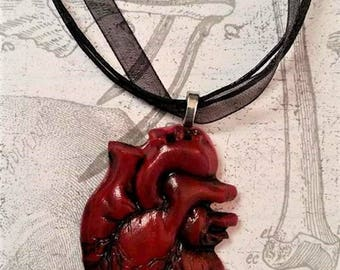 Anatomical Heart Horror Necklace