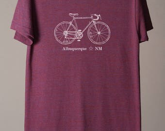Albuquerque shirt, Albuquerque tee, Albuquerque NM, New Mexico tshirt, cycling, bike tee