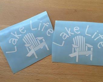 Lake Life Decal, Lake Life Vinyl Decal, Lake Decal, Lake Life Sticker