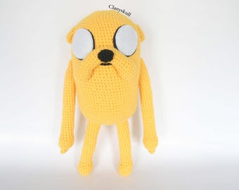 Amigurumi Jake the Dog (Adventure Time). (PRE-SALE)