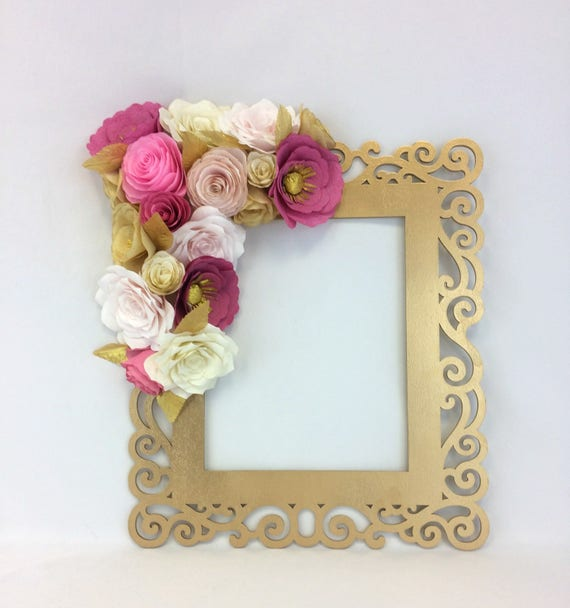 Items similar to floral frame photo prop 3d flower for 3d flowers for wall decoration