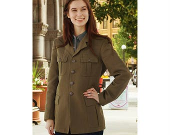 New Unissued Italian army women's wool blend dress blazer jacket military coat uniform 1980s sports
