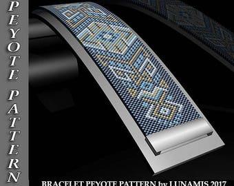 Peyote bracelet pattern, odd count, peyote pattern, stitch pattern, pdf file, pdf pattern, #010P
