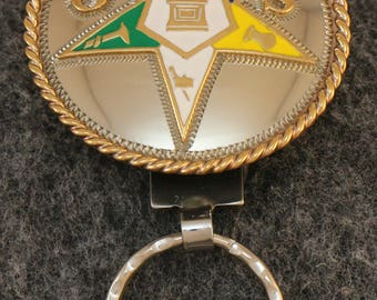 IN STOCK UNLESS Personalized, Custom handcrafted  Order of the Eastern Star Key Chain,
