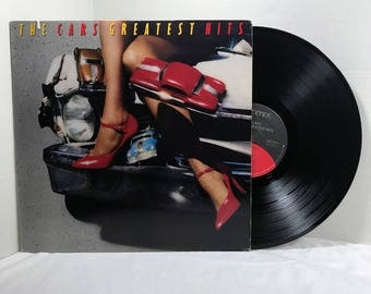 The Cars Greatest Hits vinyl record 1985 VG+ Pop Rock