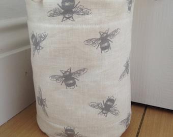 Fryetts - Bees - Cream & Grey - Lovely Handmade Fabric Doorstop - Shabby Chic