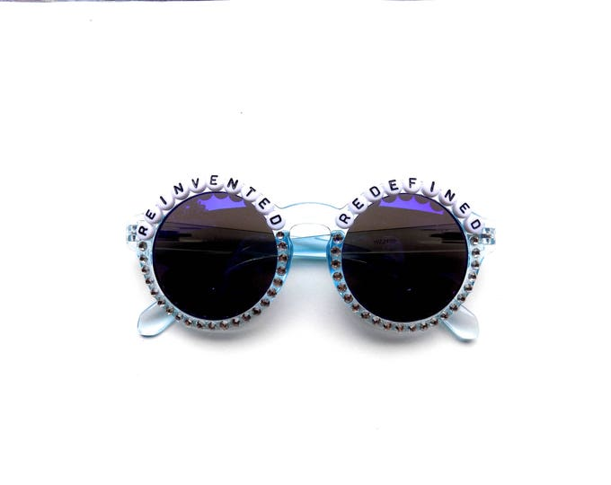 """Phish Undermind """"Reinvented Redefined"""" hand decorated Groovy Glasses, Phish embellished sunglasses, Phish novelty gift"""