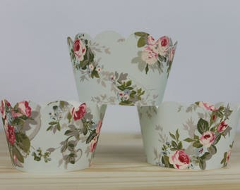 Floral Cupcake Wrapper -12