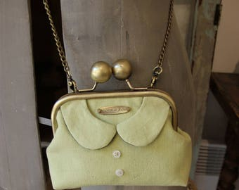 "Shoulder purse vintage ""Cecily's collar"" pistachio Green"