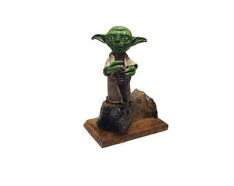 Star Wars Sculpture, Star Wars Inspired, Master Yoda Sculpture, Master Yoda Miniature, Jedi, Sith, Force Awakens, Darth Vader, Gift Ideas