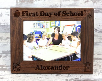 First Day Of School, Personalized Picture Frame, Back to School, Picture Frame, Custom Picture Frame, Teacher Gift, Picture Frames