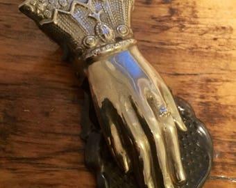 Victorian Style Brass Hand Clip