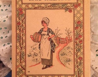 Vintage Antique Child's Book Mother Goose or The Old Nursery Rhymes Illustrated by Kate Greenaway
