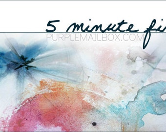 5 Minute Fix - Online Art Journaling Class - Digital Download - Instant Access