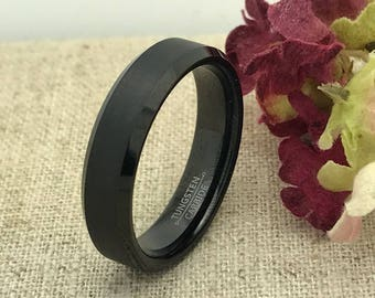 6mm Personalized Tungsten Ring, Custom Promise Ring for Him, Purity Ring, Couple Promise Rings, Custom Date Ring, Coordinate Ring, LGBT Ring