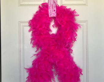 Pink Breast Cancer Awareness Wreath