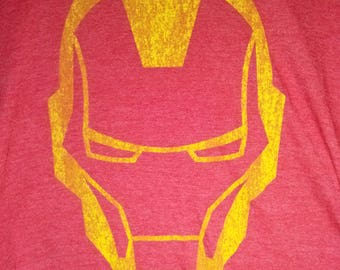 Iron Man Red Tee Shirt men Large retro yellow new junk food avengers tony stark unisex guy male adult medium big tall tshirt top soft marvel
