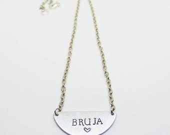 Bruja necklace (bruja, witch, latinx)