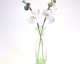 Felt Orchid table arrangement / Wedding table decor / handmade orchids / everlasting orchid / Wedding favour / White orchid