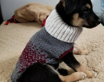 Small Dog Sweater Fair Isle