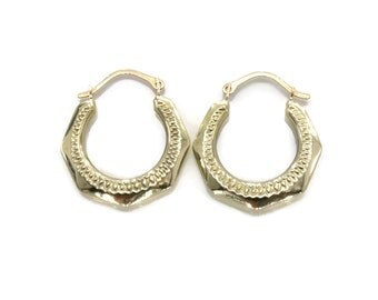 Diamond Cut Earrings, Creole Earrings, Creole Hoops, Gold Hoop Earrings, Womens Hoop Earrings, Diamond Cut Hoops, 9ct Gold, Mother's Day