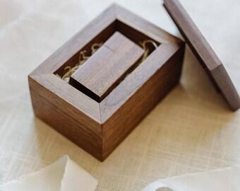 Engraved Walnut Wood USB Box and 8GB Walnut Wood USB