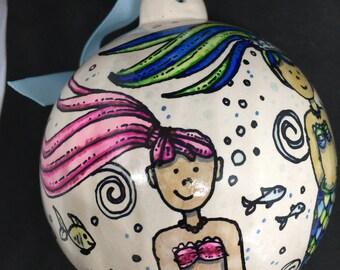 Ceramic Mermaid Ornament
