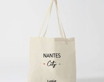 X482Y tote bag Nantes, tote bag city nantes city, cotton tote bag, bag, shopping bag, bag and tote bag, bags and luggage, overnight bag