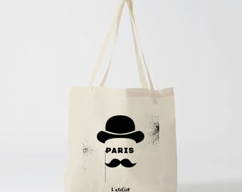 X483Y tote bag Paris tote bag city, Paris city, cotton tote bag, bag, shopping bag, bag and tote bag, bags and luggage, overnight bag