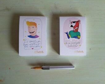 "Notepad Series ""Bulli is Born"" Fluoriscilla (8 x 12 cm)"