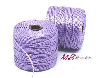 Orchid S-Lon Macrame Cord 77 Yards, Purple Nylon Beading Cord .5 mm