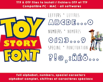 Toy Story font - real ttf to install compatible PC and Mac - instant download