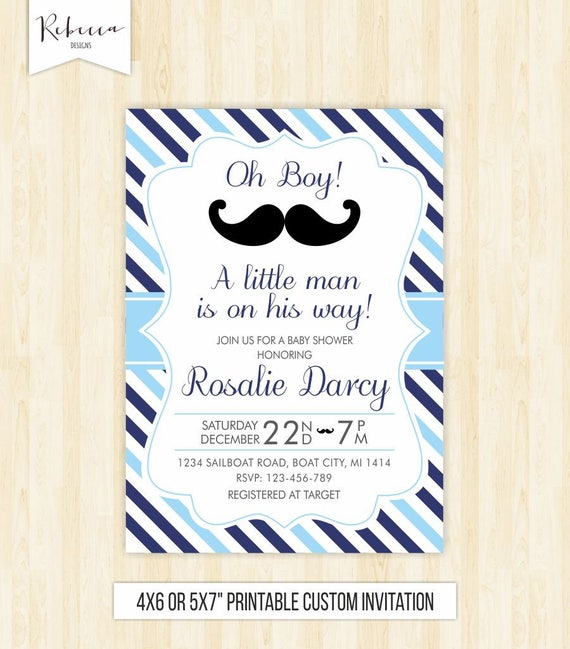 Little man baby shower invitation moustache invitation mustache il570xn filmwisefo