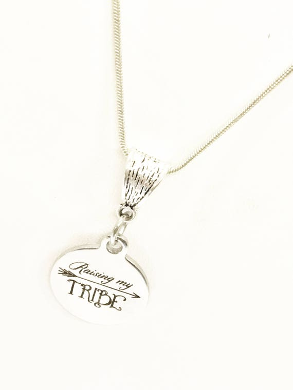 Raising My Tribe Necklace, Mom Friends Gifts, Mom Group Gifts, Raising My Tribe Jewelry, Gift For Mom, Gift For Wife, Proud Mama Gifts